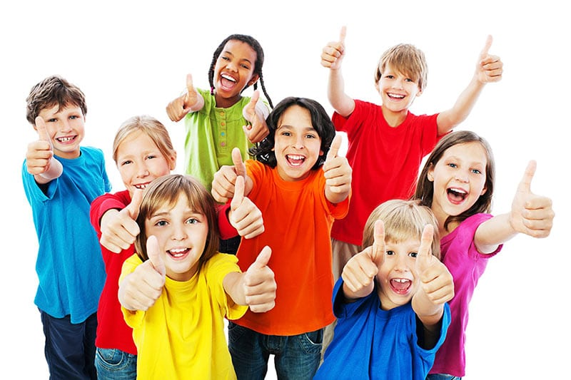kids back to school thumbs up